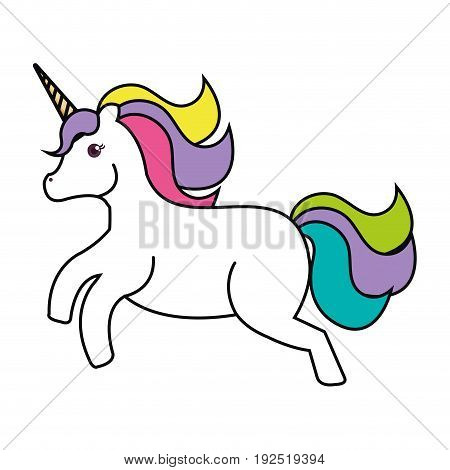 Unicorn animal horn icon vector illustration design graphic