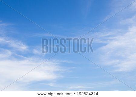 Clouds blue sky background fresh view landscape