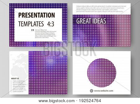 Set of business templates for presentation slides. Easy editable abstract vector layouts in flat design. Bright color colorful design, beautiful futuristic background.