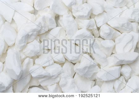 White citric acid crystals as background. Citric acid.