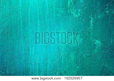 Background Of A Painted Green And Blue Iron Metal Sheet, Iron Texture