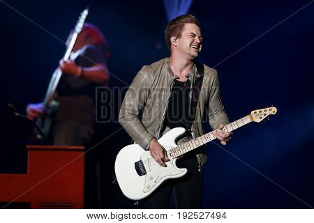 HUNTINGTON, NY-JUN 23: Country music artist Hunter Hayes performs in concert at the Paramount on June 23, 2017 in Huntington, New York.