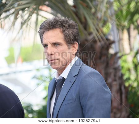 Ben Stiller attends 'The Meyerowitz Stories' photocall during the 70th Cannes Film Festival at Palais on May 21, 2017 in Cannes, France.