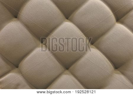Background Pattern Closed up of Abstract Texture of Brown Fabric Sofa or Upholstery Background.