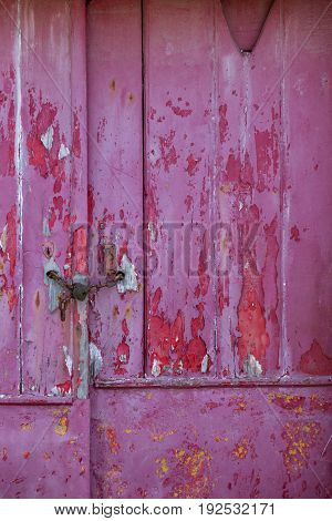 Old Door With Damaged Texture