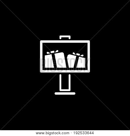 Advertising Icon. Flat Design. Business Concept. Isolated Illustration with billboard
