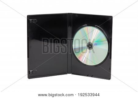 Black Cd / Dvd Case Isolated On White Background
