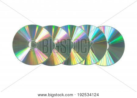 Several Cd / Dvd On Isolated White Background