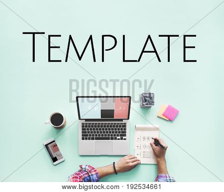 Web Template Content Layout Design Graphic Word
