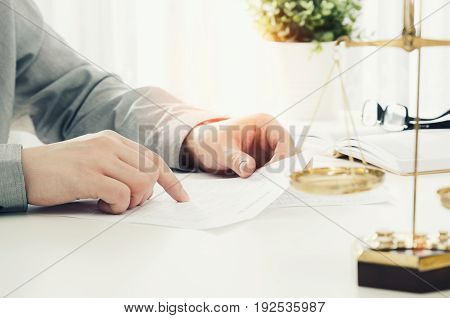 Lawyer Working In The Office