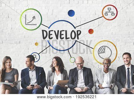 Business Development Ongoing Progress Concept