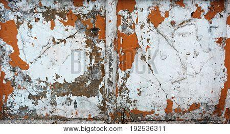 Horizontal orange rusty old wall texture background hd