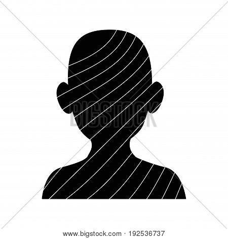 silhouette of man with stripes icon over white background vector illustration
