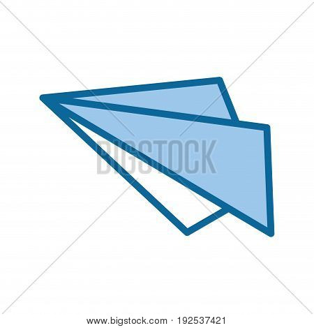 paper plane icon over white background vector illustration