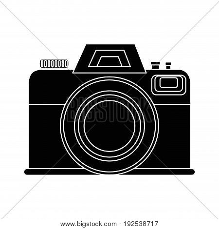 photographic camera icon over white background vector illustration