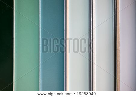 colorful ceramic tiles - variation of different colored tiles - tile color samples