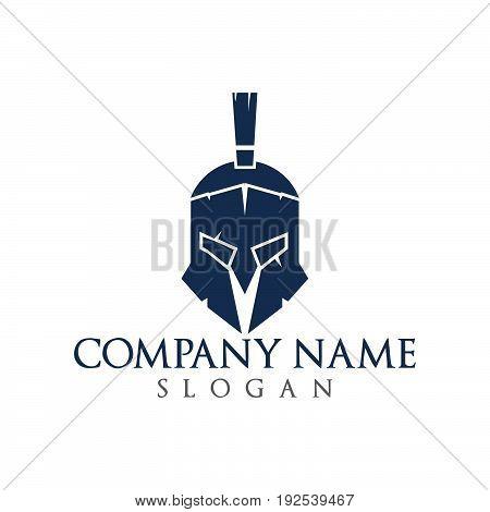 Spartan logo. Old Vintage Antiques Spartan warrior vector design
