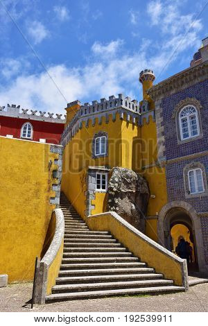 Sintra, Portugal At Pena National Palace. Detail