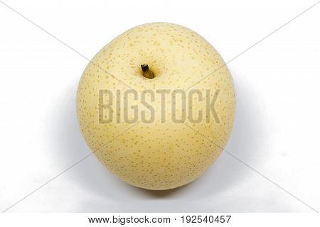 Fresh chinese pear isolated on white background