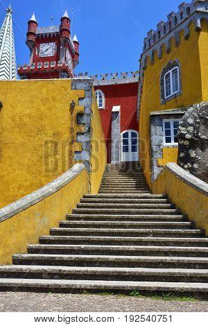 Sintra, Portugal At Pena National Palace