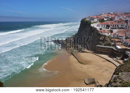 Atlantic Ocean Coast, Azenhas Do Mar Village, Sintra, Lisbon, Portugal