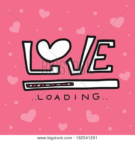 Love loading cute pink abstract background vector illustration