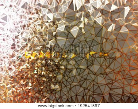 Grunge geometric brown and white abstract background illustration