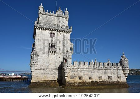 Torre De Belem Or Belem Tower,  Lisboa,  Portugal