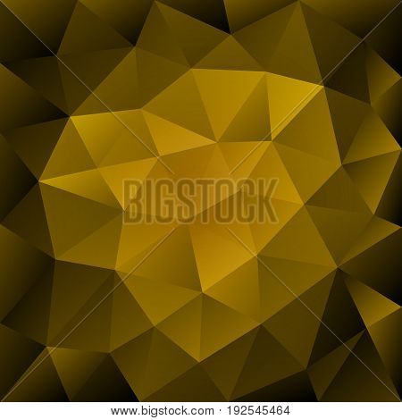 Gold Abstract Polygonal Background.