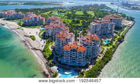 Fisher Island. Miami Beach, South Beach. Florida. USA.
