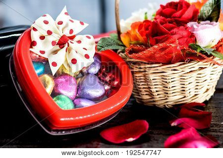 Valentines day and Sweetest day, love chocolate