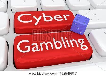 Cyber Gambling Concept