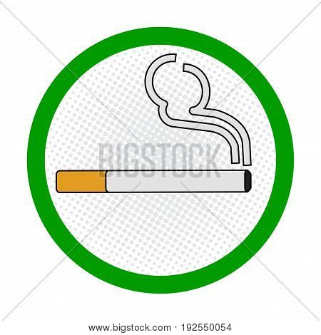 Smoking Area symbole, smoking place area sign, on White Background - Vector Sign Design