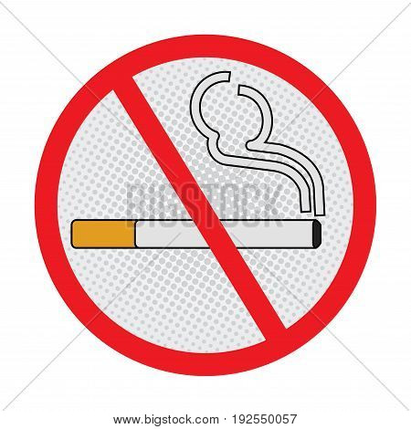 No Smoking symbol, stop smoking Sign on White Background - Vector Sign Design