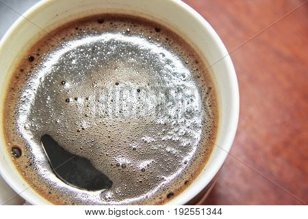 A White cup of the black coffee