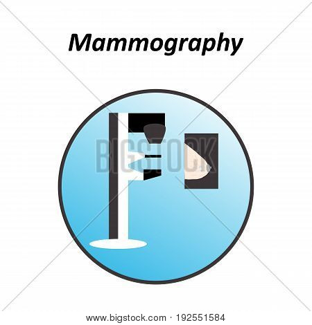 Diagnosis of breast cancer. World day against breast cancer. Mammography. Infographics. Vector illustration on isolated background