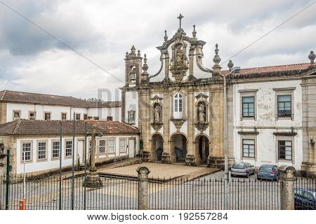 View at the church of Santo Antonio dos Capuchos in Guimaraes - Portugal