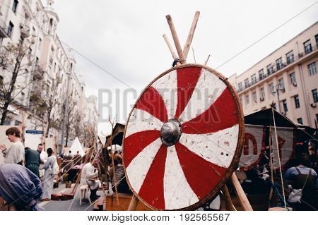 Moscow, Russia- June 12, 2017: Viking Shield