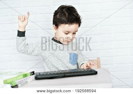 Concept Of Little Businessman, Webmaster, Programmer, Developer, Website Designer.