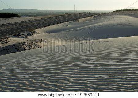 Sundown In Desert