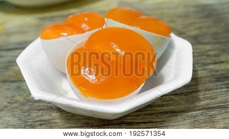 Local boiled eggs or