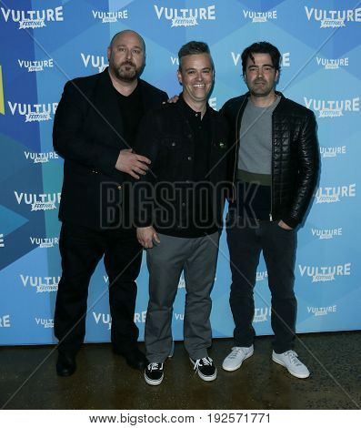 NEW YORK-MAY 20: (L-R) Will Sasso, Bobby Mort and Ron Livingston attend the