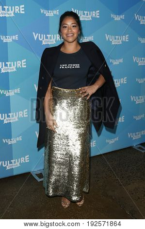 NEW YORK-MAY 21: Gina Rodriguez attends the 'Jane the Virgin' tv panel during the 2017 Vulture Festival at Milk Studios on May 21, 2017 in New York City.