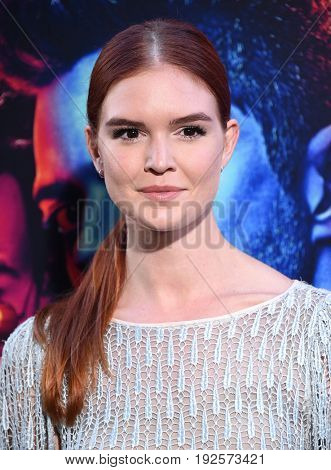 LOS ANGELES - JUN 20:  Emily Tyra arrives for the AMC Season Two 'Preacher' Premiere Screening on June 20, 2017 in Los Angeles, CA
