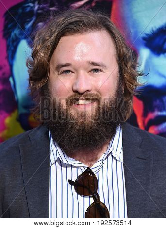 LOS ANGELES - JUN 20:  Haley Joel Osment arrives for the AMC Season Two 'Preacher' Premiere Screening on June 20, 2017 in Los Angeles, CA