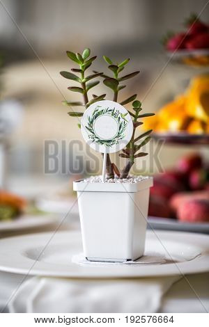 The table decorations ,holiday concept and rest