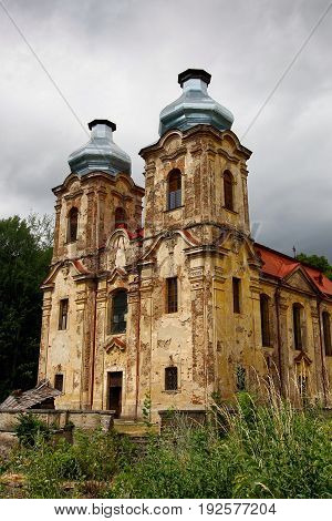 Ruins of the Church of the Visitation - Skoky, Czech Republic