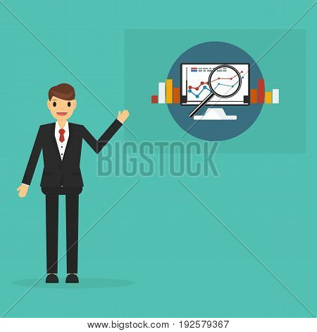Research business concept . business concept .