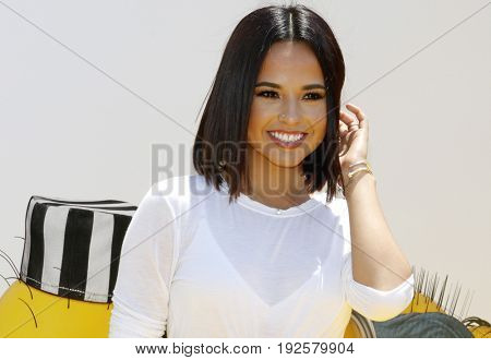 Becky G at the World premiere of 'Despicable Me 3' held at the Shrine Auditorium in Los Angeles, USA on June 24, 2017.