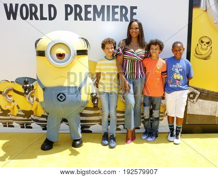 Garcelle Beauvais at the World premiere of 'Despicable Me 3' held at the Shrine Auditorium in Los Angeles, USA on June 24, 2017.